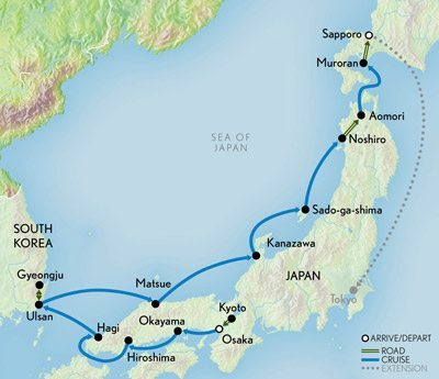 2015-Wonders-of-Japan-Itinerary Map