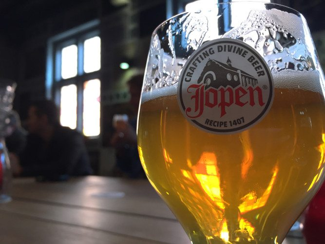 Jopen brewery is in an old church in Haarlem, Netherlands and makes  for an excellent place to connect with locals