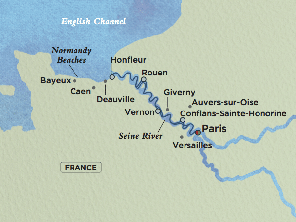 Crystal River Yacht Options Detailed Through Chris Cruises - World map seine river