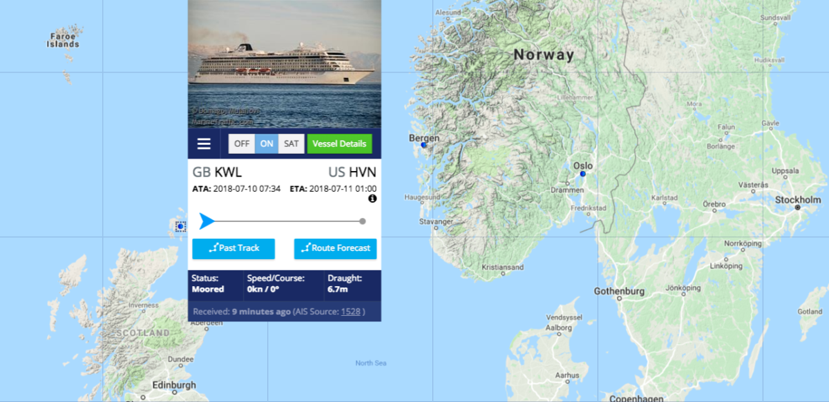 Follow Viking Star In Real Time Satellite View Chris Cruises - Real time satellite map