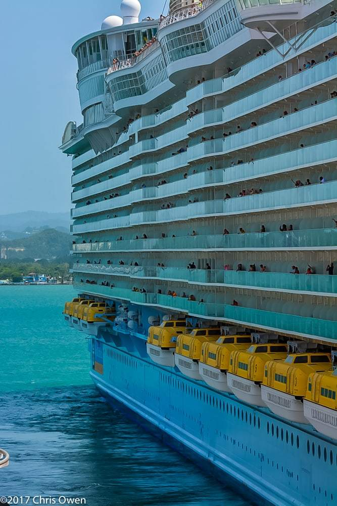 Oasis Of The Seas Seen From Carnival Magic Chris Cruises