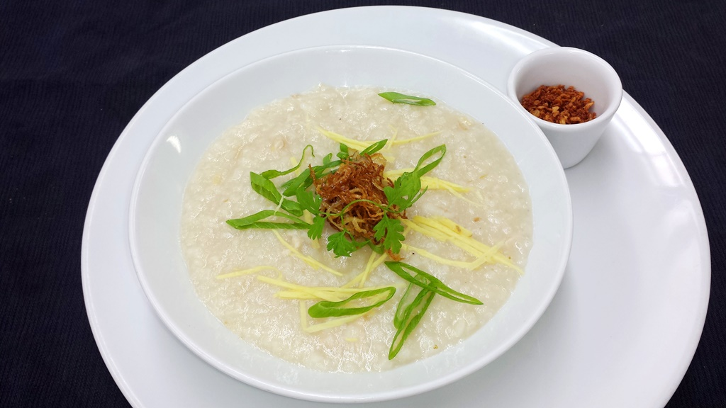 7 Asian Congee Chicken and Rice porridge with Ginger & Scallion