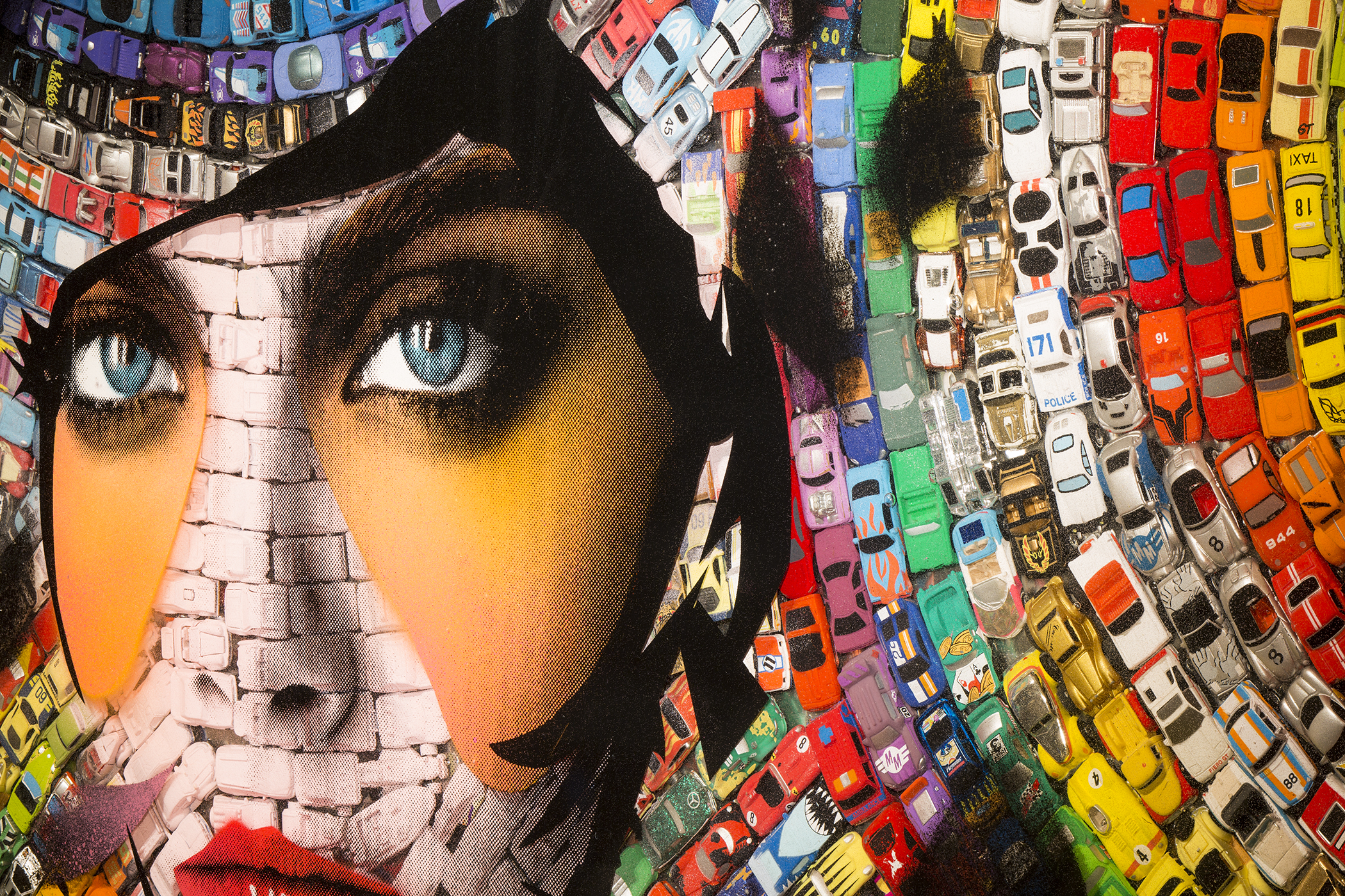 Artwork – Face with Cars
