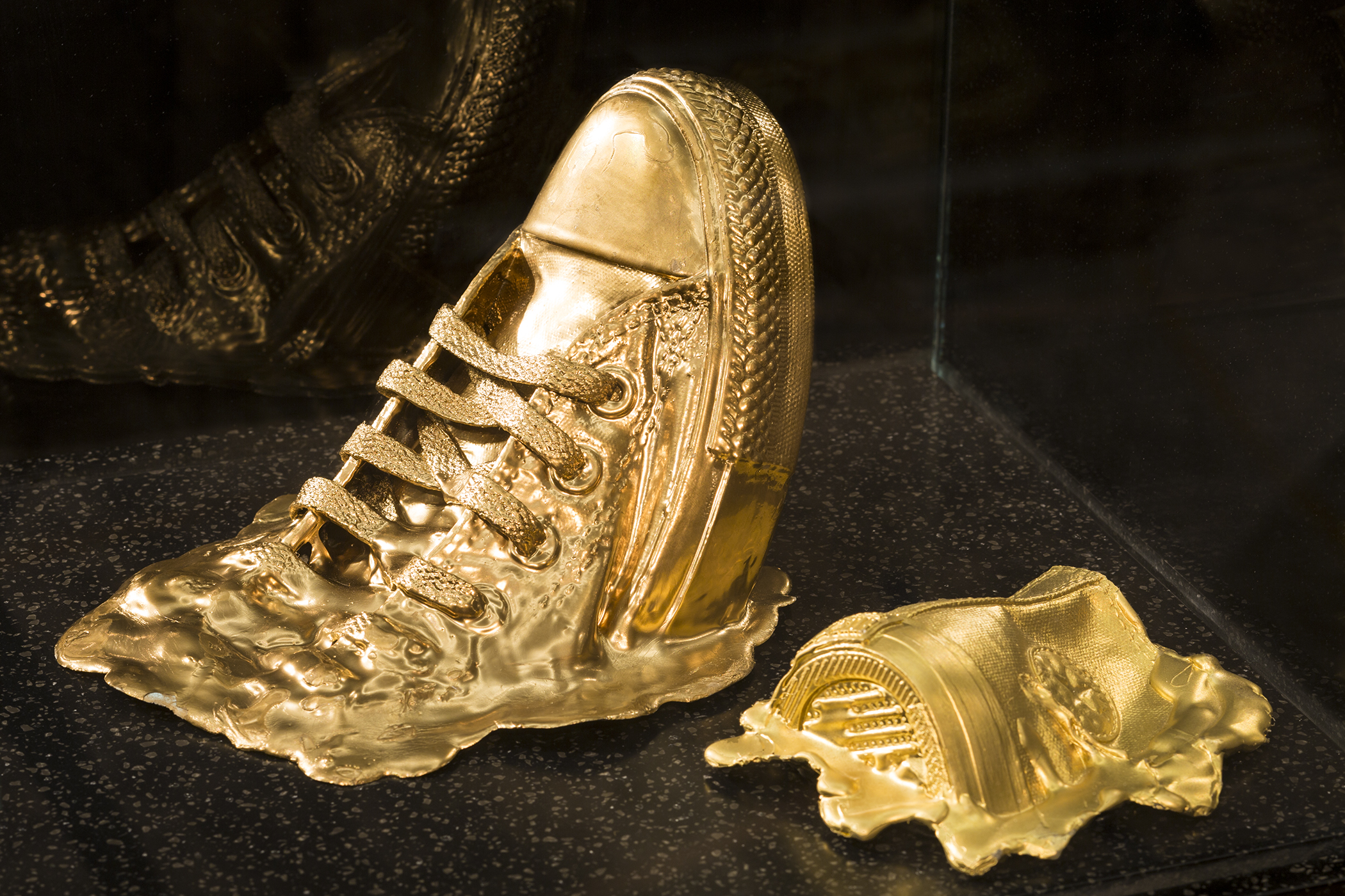 Gold Tennis Shoes